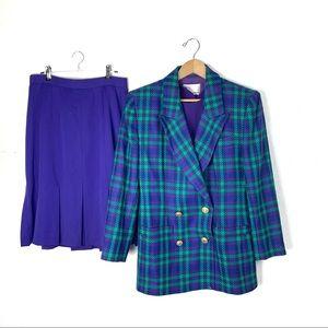 Vintage 3 piece skirt blazer suit set M